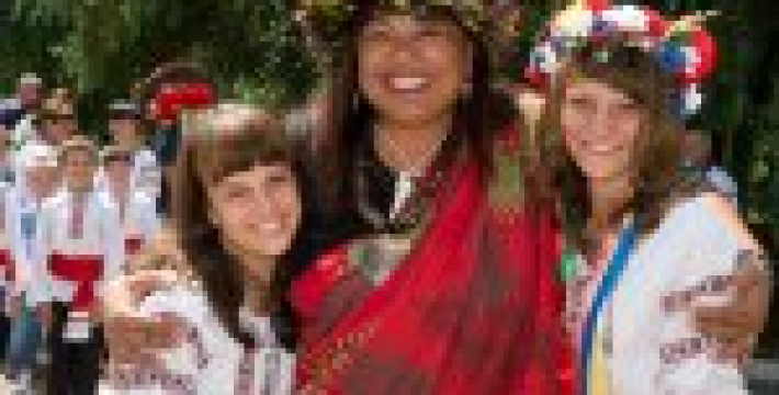 Индейцы Сиу впервые побывали в Украине