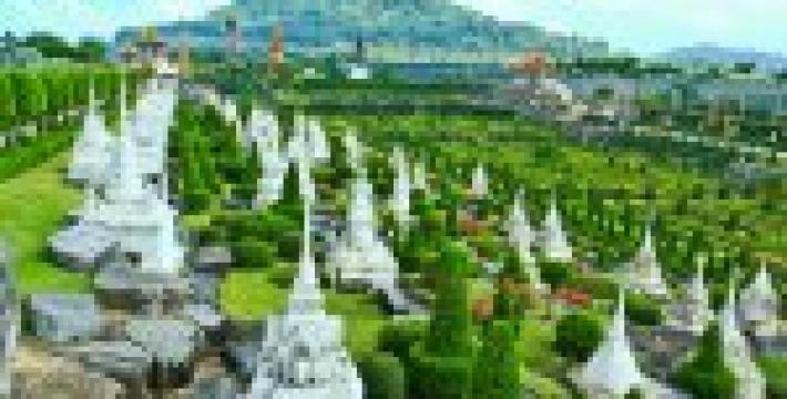 Тропический парк Нонг Нуч в Тайланде<
