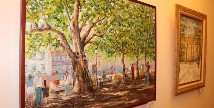 Выставка живописи Биньямина Шалумова
