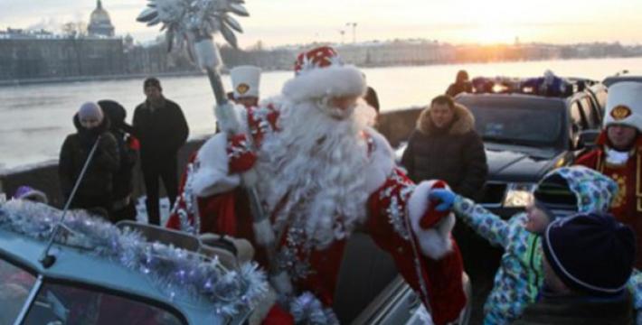 Дед Мороз начал путешествие по городам России