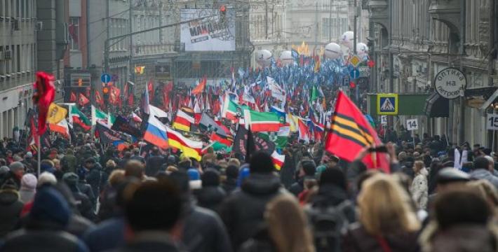 В Москве прошел марш движения Антимайдан. Фото