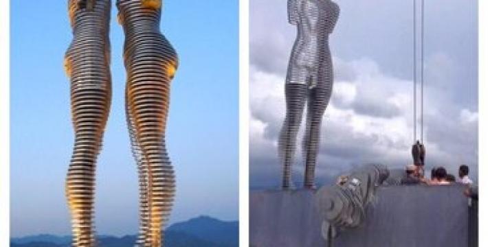 В Батуми разрушили всемирно известную движущуюся статую Али и Нино