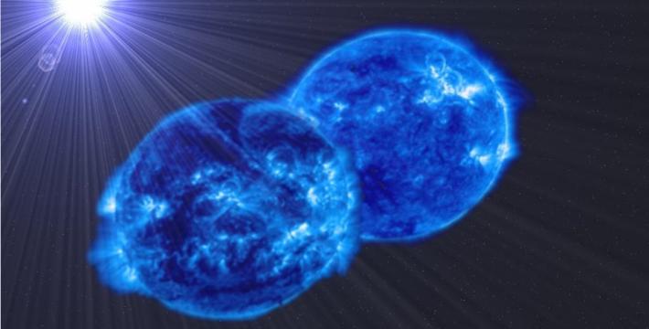 зрелище: две звезды поглощают друг друга