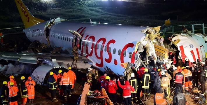 Появилось видео жесткой посадки самолета в стамбульском аэропорту