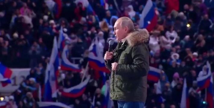 Путин поздравил россиян с годовщиной возвращения Крыма