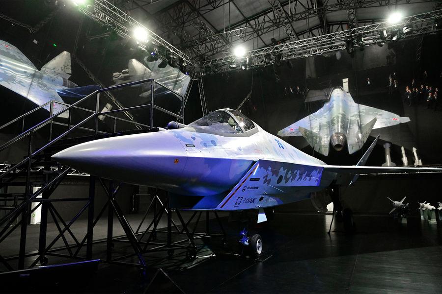 На авиасалоне МАКС в Жуковском представлен российский истребитель пятого поколения